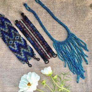 Guatemalan seed bead jewelry